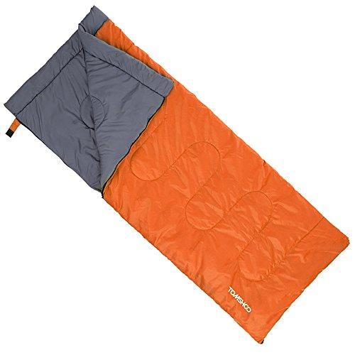 TOMSHOO 200 * 80 cm Adulte Sac de couchage Camping Voyage Randonnée thermique multifonction épais 5-15 ℃ 1,5 kg