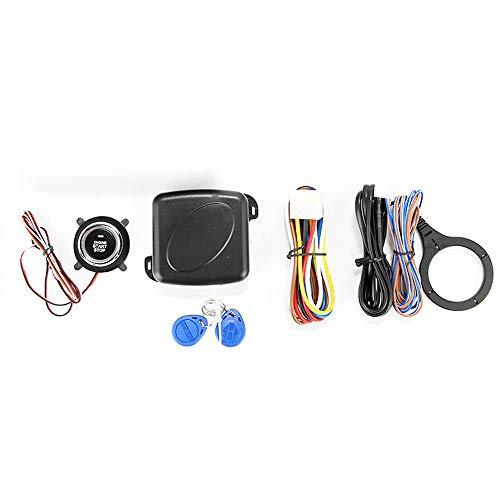 KKmoon 12V Universal Push Starts Stop System, Knopf SmartKey RFID Auto Motor Finger Push Starter, Alarm Knopf Starts Keyless Transponder Wegfahrsperre SQ9002