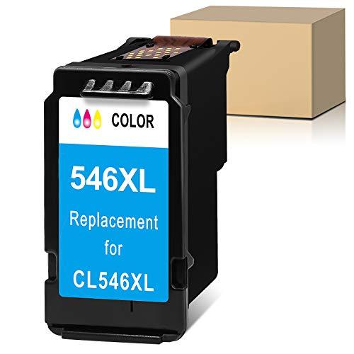 Sunnieink - Cartucho de tinta remanufacturado para Canon 546 XL CL-546XL (1 color), color negro Impresora 0s