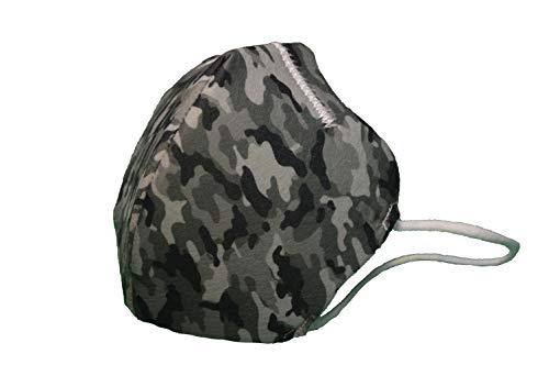 Maskin. Mascarilla higiénica reutilizable HOMOLOGADA UNE 0065. Pack 3 Uds. Diseñado y fabricado en España. (Adulto,  Camouflage)