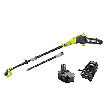 Ryobi ZRP4361 One+ 18-Volt 9.5 ft Cordless Electric Pole Saw Kit - P105  Upgraded from P102   Battery & P118 Charger  Renewed