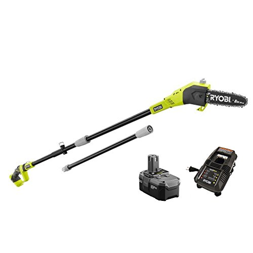 Ryobi ZRP4361 One+ 18-Volt 9.5 ft. Cordless Electric Pole Saw Kit - P105 (Upgraded from P102 ) Battery & P118 Charger (Renewed)