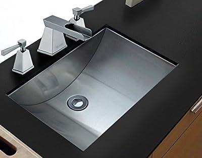Ruvati 21 inch Stainless Steel Undermount Bathroom Vanity Sink with Pop-up Drain - RVH6110
