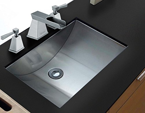 Ruvati 18' x 12' Brushed Stainless Steel Rectangular Bathroom Sink Undermount - RVH6110