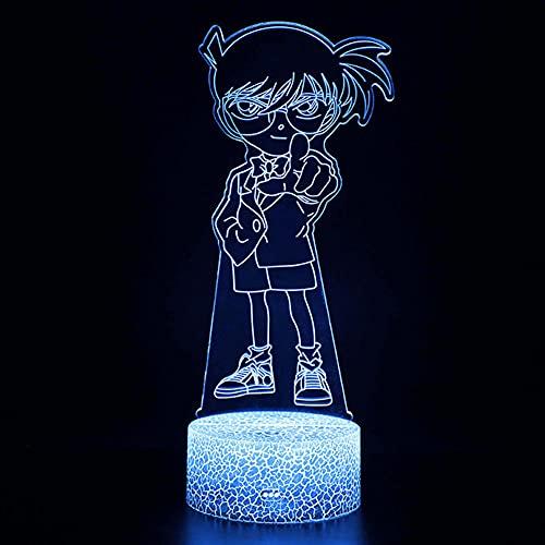 Anime 3D llevó las luces, ABS Touch Cartoon Night Light Detective Conan LED Deak lámpara Niños Luces de Dormir Regalos Creativos, Cumpleaños Navidad LED Noche Luces