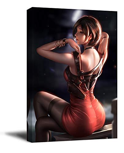 ARYAGO Resident Evil Ada Wong Decoración de pared de baño,