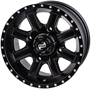 4/137 Tusk Cascade Wheel 14x7 4.0 + 3.0 Matte Black for Honda Pioneer 1000 2016-2018