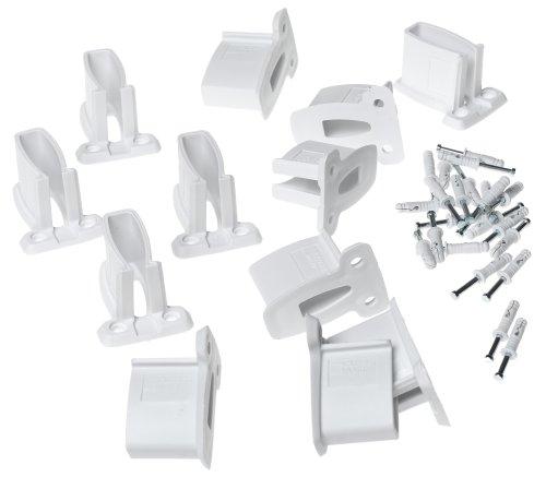 ClosetMaid Wall Brackets, White, 12-Pack #1782