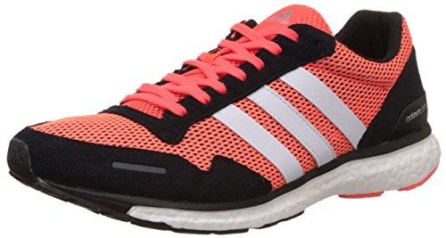adidas Herren Adizero Adios 3 Laufschuhe, Rot (Solar Red/Core Black/FTWR White), 43 1/3 EU
