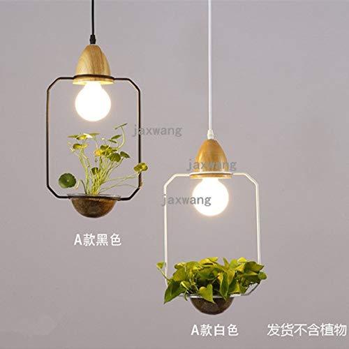 5151BuyWorld lamp, Amerikaanse vaas voor bloemen, licht en hanglamp, hoge kwaliteit, restaurant, dining kamerlamp, zwart/wit/glas, industriële lamp