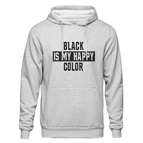 Black Is My Happy Color Grey Hoodie