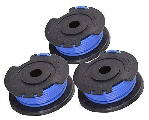 Greenworks Tools 3 Stück Einzelfadenspule für Rasentrimmer (21117, 2100107, 2100007), 6x7x6cm - 29177