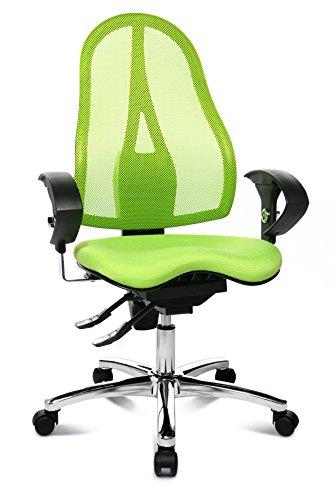 Topstar ST19UG05 Sitness 15, ergonomischer  Bürostuhl, Schreibtischstuhl, inkl. höhenverstellbare Armlehnen, Bezugsstoff apfelgrün