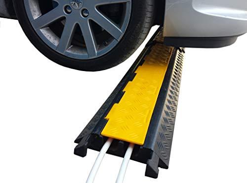 SNS SAFETY LTD Modularer Kabel-Überfahrschutz aus Kautschuk, für Leitungen mit 28 mm Durchmesser (1 Stück, mit 2 Kanälen)