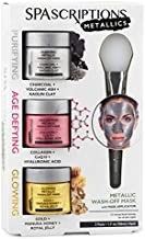 Purifying, Age Defying and Glowing Metallic Wash-Off Masks