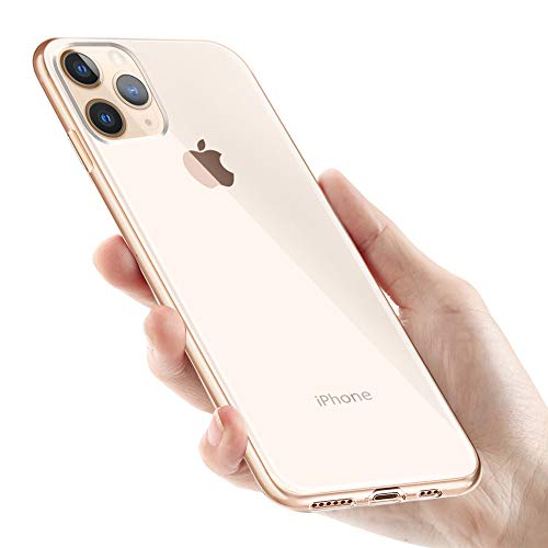 KKTICK Custodia iPhone 11 PRO, Cover iPhone 11 PRO Silicone e Anti-Graffio Anti Impronta Digitale Copertura Protettiva Case Cover per iPhone 11 PRO Bumper Case -Trasparente