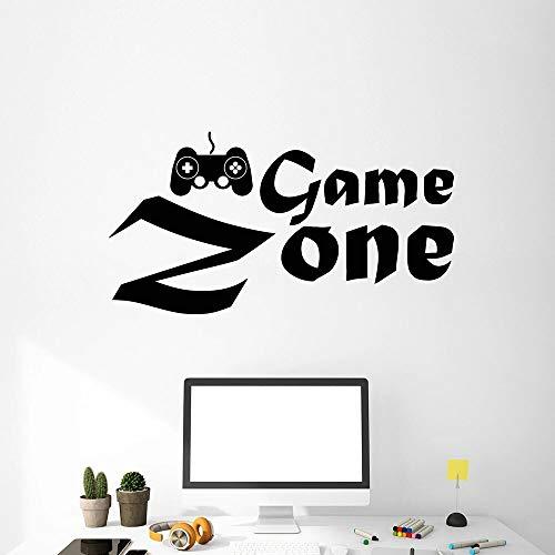 Spelgebied muur sticker joystick spel logo deuren en ramen vinyl sticker jongen speelkamer kleuterschool interieur behang 68,4x36cm