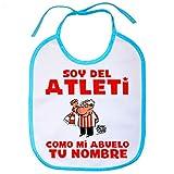Babero soy del Atleti Atlético de Madrid como mi abuelo personalizable con...