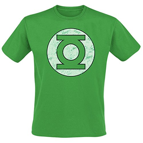 Cid Green Lantern - Distressed Logo T-Shirt Homme Multicolore FR : XXL (Taille Fabricant : XXL)