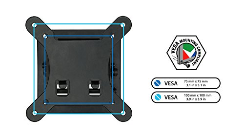 Mount-It! Small TV Monitor Wall Mount | RV TV Mount | Quick Release | Fits 13 15 17 19 20 21.5 24 25 27 32 Inch Screens | 75 100 VESA Compatible | Low-Profile Slim Design | 30lb Capacity