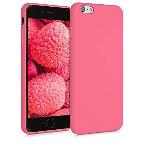 kwmobile Cover Compatibile con Apple iPhone 6 Plus / 6S Plus - Cover Custodia in Silicone TPU - Backcover Protezione Posteriore- Corallo Neon Matt