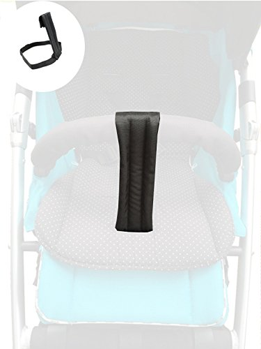 Smart-Planet® hochwertiger Schrittgurt/Rutschgurt für Ihren Kinderwagen/Buggy der peferkte Haltegurt für Ihren Buggy - Universal schwarz