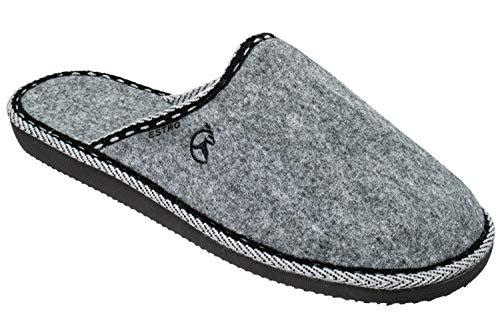 ESTRO Zapatillas De Casa Hombre Zapatillas Fieltro Pantuflas Casa Hombre F14 (43 EU, Gris)