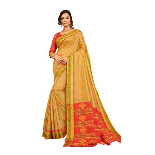 Blusa Sari algodon indio amarillo cromo disenador mano Sari