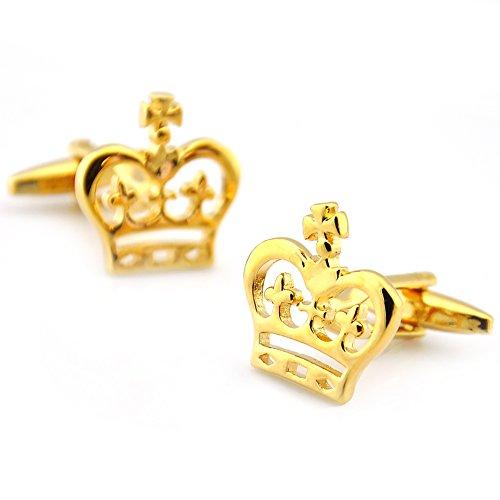 Sirius Bijoux Mariage texudo Couronne Or boutons de manchette dans une boîte cadeau
