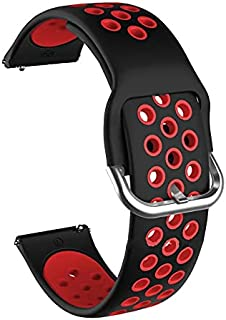 watch band for samsung galaxy watch 3 41 mm and Active 2 black/red silicon