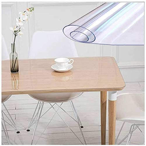Pvc tablecloth Chair Mat PVC Tablecloth Chair Cushion Transparent Table Mat Safety Durable Waterproof Oil-proof Easy to Clean Customizable (Color : 1.5mm, Size : 60x120CM), Table cloth table cloth