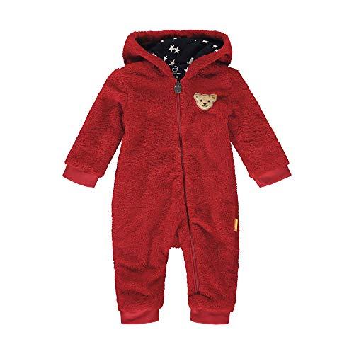 Steiff Baby Fleece Overall Mäd.Kapuze Größe: 062 Farbe: rot