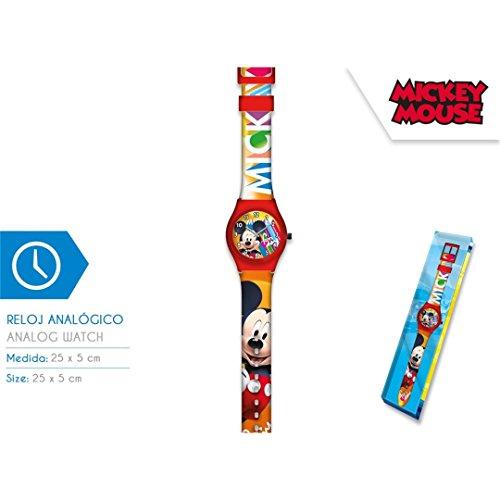 Mickey Mouse Mixte Enfant Analogique Mécanique Montre avec Bracelet en Aucun KD-WD19658