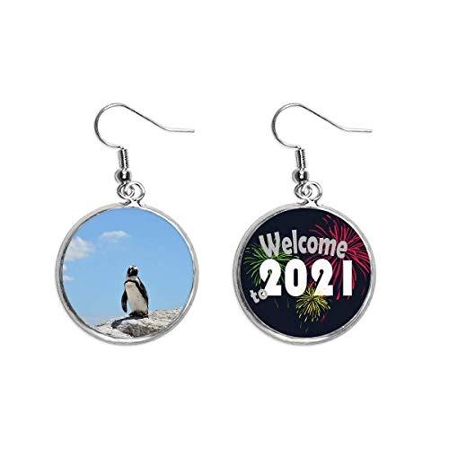 Penguin Ocean Antártico Science Nature - Pendientes para orejas (2021, bendición