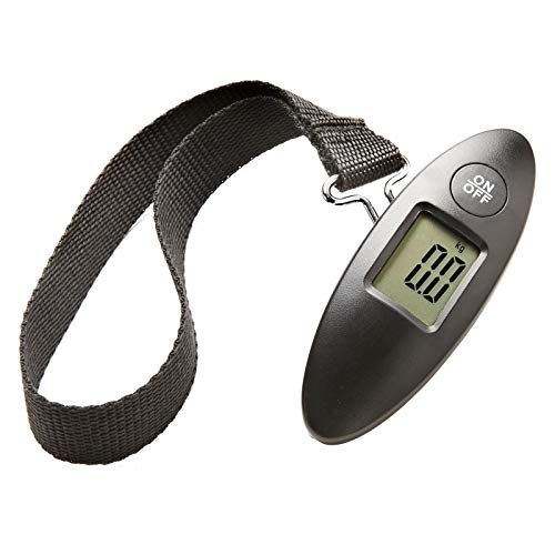 ShaniTech Portable Travel Digital Luggage Scale with Display Lock & Strong Straps - Tare Function 50KG / 110 lb