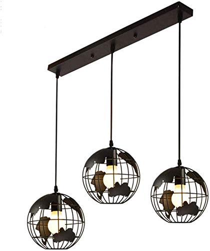 Lampada A Sospensione Mappamondo Earth Globe, Mappa Lampadario E27 Luce Del Pendente Mondo Moderno Lampada A Soffitto Per Lampada Da Loft Geometrica,A