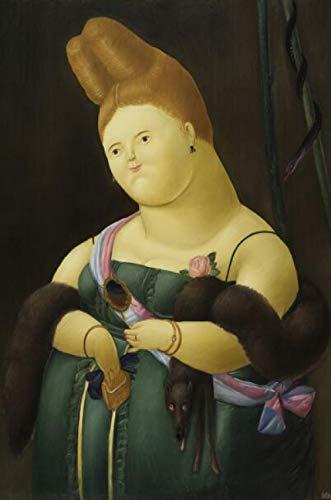CNHNWJ Fernando Botero Angulo lustige Bild Kunstdruck Schlafzimmer Wohnzimmer Wand Bilder Fernando Botero Poster Home Wanddekor Gemäldewerk Bild 50x75cm Kein Rahmen