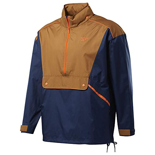Reebok Veste Coupe-Vent Marron/Bleu Trail Jacket Marron-XS