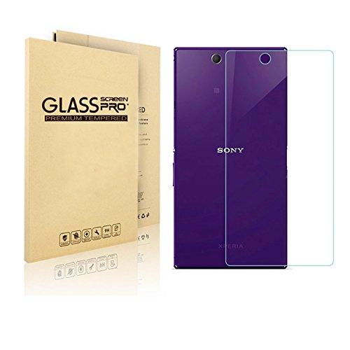 VIMVIP Sony Xperia XL39H Z Ultra 専用 ガラス 2.5D ラウンド 加工 液晶保護フィルム 強度9H 0.3mm 強化ガラスフィルム / 気泡ゼロ/指紋防止/保護シー (XL39H バック)