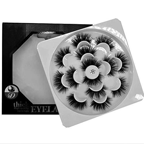 HBZGTLAD 7 Pairs Natural False Eyelashes Fake Lashes Long Makeup 3d Mink Lashes Eyelash Extension Mink Eyelashes For Beauty  (X3)