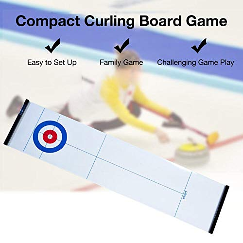 Great Features Of Nifera Foldable Table Mini Curling Ball Game, Tabletop Curling Game Entertainment ...