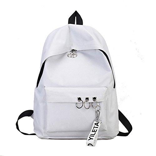 Rugzak dames kleine waterdichte schoudertassen nylon casual schoudertas daypacks dames kleine rugzak anti-diefstal schoolrugzak wit