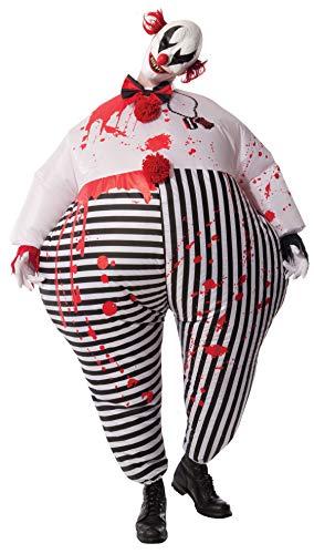 Rubies'sDisfraz de Payaso de Terror de Halloween, Hinchable, para Adultos, Producto Oficial de Rubie'S, Tallaúnica estándar