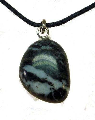 TF varios colores premium de piedras: Ágata de cebra con ojales y cordel - de cinta de plata de ley. 925