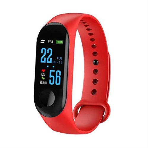 WFQ Watch Smart Watch zur Überwachung von körperlicher Aktivität, Smart-Armband Blutdruckmessgerät, Smart-Armband für Herren, Rot