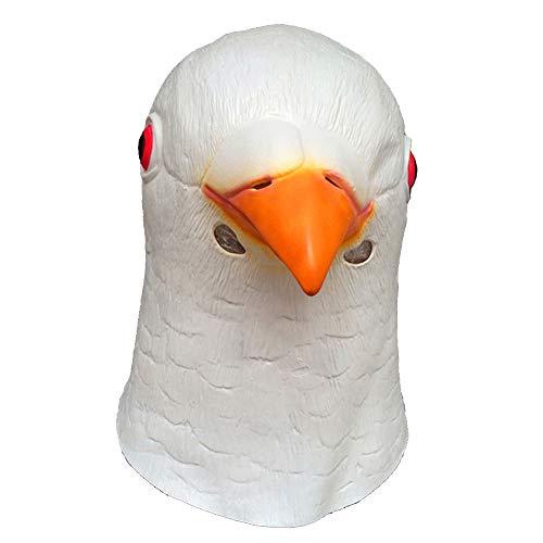 YaPin Máscaras de Paloma del látex de la Novedad Paloma Blanca Máscara Animal del Funcionamiento del Modelo del Casquillo del Partido del Sombrero