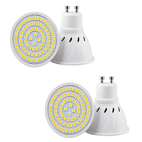 ZJYX GU10 Bombillas LED 8W 800LM, Lámparas Halógenas Equivalentes a 80W, No Regulable, Angulo de Haz de 120°, AC 85-265V - Paquete de 4,Cool White