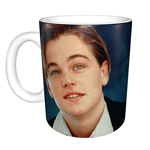 Hdadwy Celebrity Leonardo Dicaprio Home Taza de té de cerámica Taza de café de oficina 10 oz