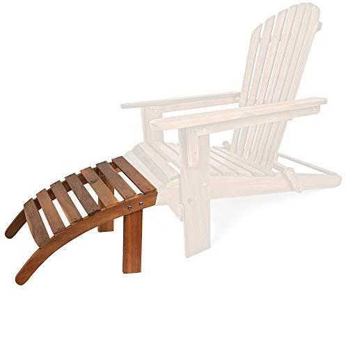 Deuba Sonnenstuhl Adirondack Fußstütze Akazienholz bequem 7 Streben Indoor Outdoor Strandstuhl Stütze Garten