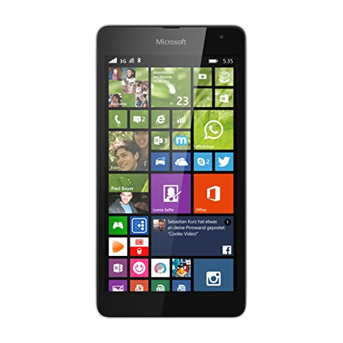 Microsoft Lumia 535 Smartphone (5 Zoll (12,7 cm) Touch-Display, 8 GB Speicher, Windows 8.1) weiß